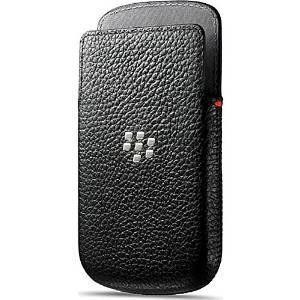 Blackberry bolsa de piel para blackberry q10 - negro