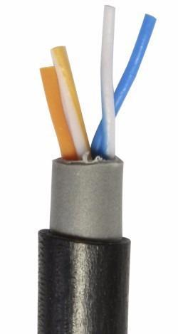 Cable telefónico exterior 50m 2 pares trenzado