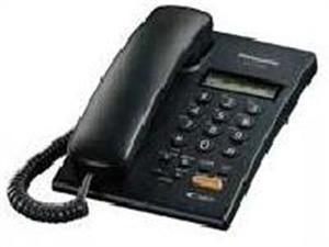 Panasonic teléfono alámbrico de 2 líneas kx-t7705x-b