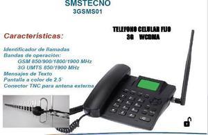 Telefono 3g wcdma, rural + antena yagi 40 elementos