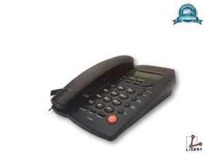 Telefono alambrico con altavoz fijo negro homedesk tc-9200