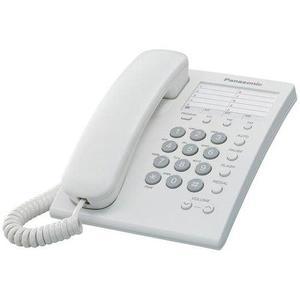 Telefono alambrico panasonic ts550mew para 1 linea 1 pieza