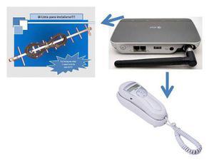 Telefono rural + antena aerea yagi incluye telefono gondola