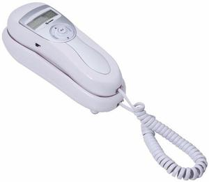 Teléfono alámbrico de góndola con identificador de