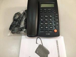 Teléfono fijo alámbrico con altavoz negro homedesk