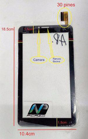 Touch nix vox telcel flex: olm-070b0435-fpc negro
