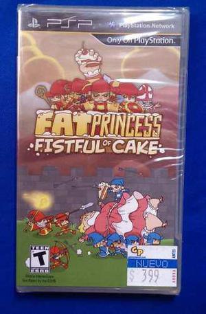 Vendo... fat princess: fistful of cake... para psp...