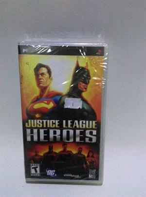 Videojuego justice league heroes psp