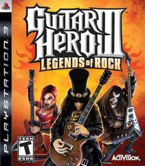 Guitar hero 3 legends of rock para playstation 3 ps3 nuevo