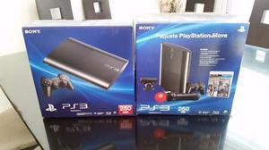 Playstation 3 con move kit completo con todo lo que ves en f
