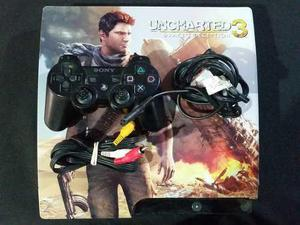 Playstation 3 slim uncharted 3 160gb con juegos digitales