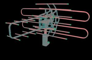 Antena aérea giratoria 360 voltech a48115 envio gratis