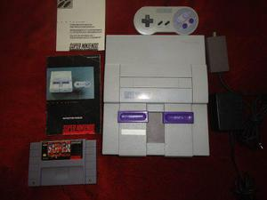 Super nintendo con manual y juego super street fighter