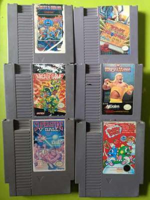 Lote De 6 Juegos Nintendo Nes Turtles Goblins