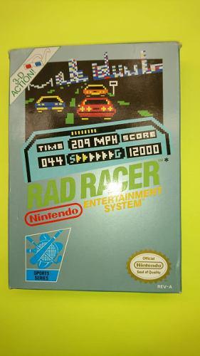 Rad racer nes con caja manual y lentes 3d completito juegazo