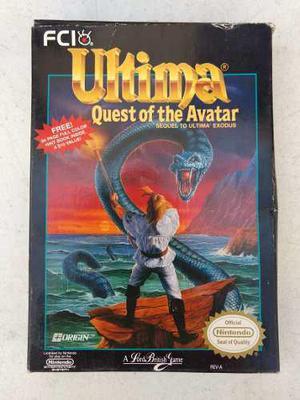 Ultima quest of the avatar nintendo nes juego con caja