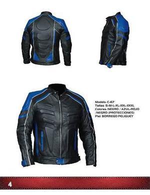 008f8128c5167 Chamarra de piel caballero motociclista con protecciones en México ...