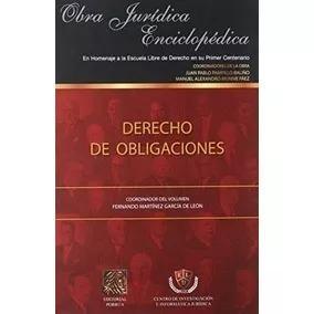 Libro derecho de obligaciones obra jurídica enciclopédica