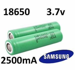 Batería recargable samsung 18650 3.7v 2500ma pila original