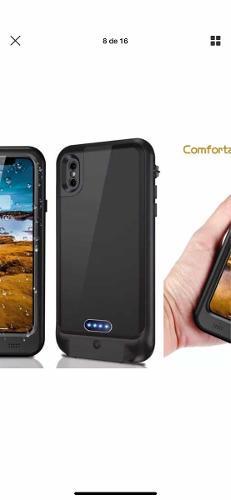 Cargador pila portátil contra el agua iphone 7 x 8 plus