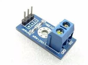 Módulo sensor detector de voltaje hasta 25 v, arduino, pic