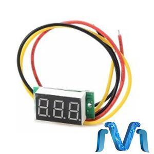 Mini voltimetro display digital 2.4v a 30v dc rojo negro