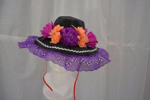 Sombrero catrina morado r niña dia muertos halloween b7c27cfff75
