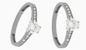 Anillos de compromiso diamante cultivado