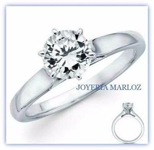 83748951d9f0 Anillo compromiso oro blanco 14kt diamante ruso 6u-14-cz en México ...