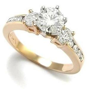 8c51a13beef0 Anillo oro 18k moissanita forever one 1.10ct