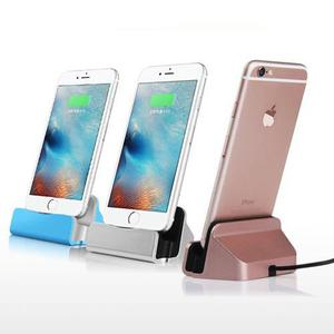 Base dock iphone 5 6 7 8 x ipad y ipod carga sincroniza