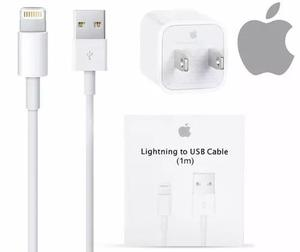 Cable usb y cargador original apple lightning iphone 6 7 8 x