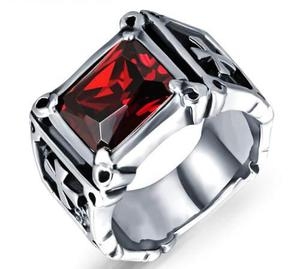dd6e6f4f84cc5 Cruz anillo acero inoxidable zirconia unisex hombre mujer y2 en ...