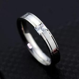 Par de anillos de pareja de acero inoxidable compromiso
