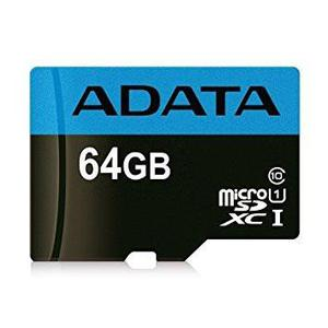 Adata memoria micro sd hx 64gb uhs-i clase 10 celulares a1