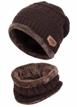 Gorro y bufanda frió invierno hombre mujer tejido