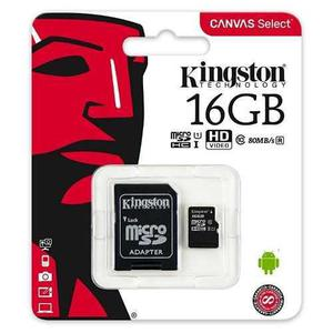 Kingston memoria micro sd 16gb clase 10 80mb/s nueva oferta