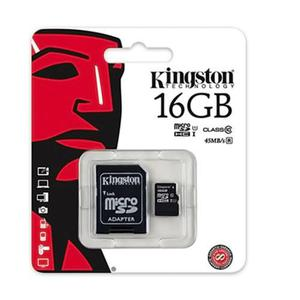 Kingston memoria micro sd hc 16gb uhs-i cl10 celulares 45mb