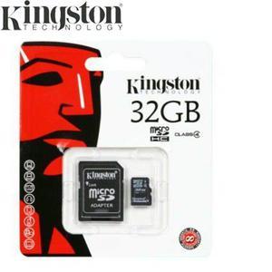 Kit de 3 pz memoria micro sd 32gb kingston clase 4 nueva