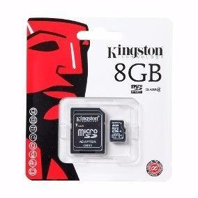Lote: 20 memorias micro sd 8gb kingston c/adaptador sdc4/8g