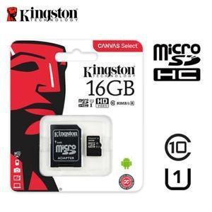 Memora micro sd 16gb kingston clase 10 80mb/s