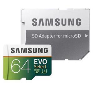 Memoria 64gb micro sdxc u3. samsung evo. clase 10. graba 4k