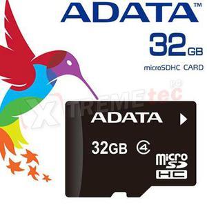 Memoria adata micro sd sdhc 32gb clase 4 con adaptador sd