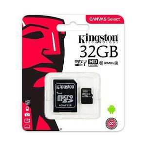Memoria kingston micro sd 32gb clas 10 u1 80mb canvas select