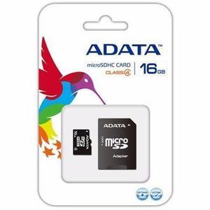 Memoria micro sd 16gb clase 4 adata adaptador sd