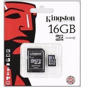 Memoria micro sd 16gb clase 4 kingston cel camaras facturada