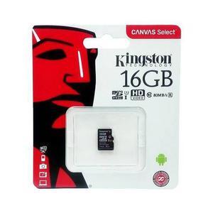 Memoria micro sd 16gb kingston clase 10 celular, reproductor