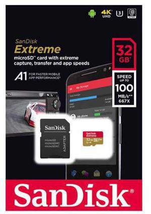 Memoria micro sd 32gb clase 10 100mb/s sandisk extreme