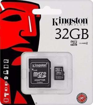 Memoria micro sd 32gb clase 4 kingston tablet celulares