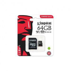Memoria micro sd 64 gb sdxc 80r uhs-i clase10 kingston sd